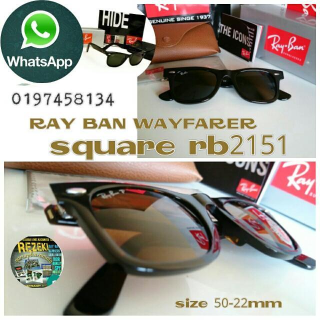 9c48939c03 Rayban Wayfarer Square Rb2151