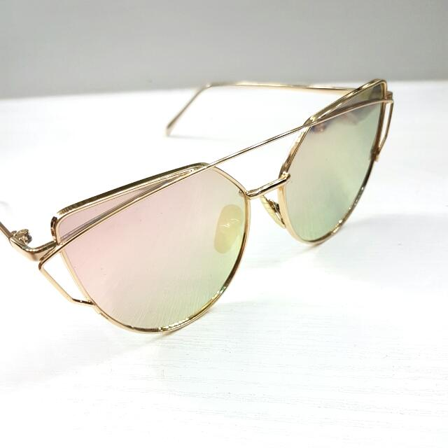 Rose Gold Cat Eyes Sunglasses