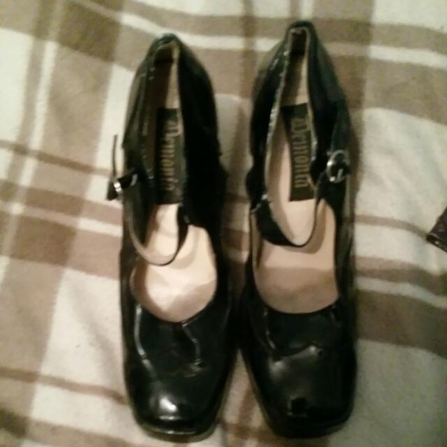 Shinny Black Demonin Heal Shoes