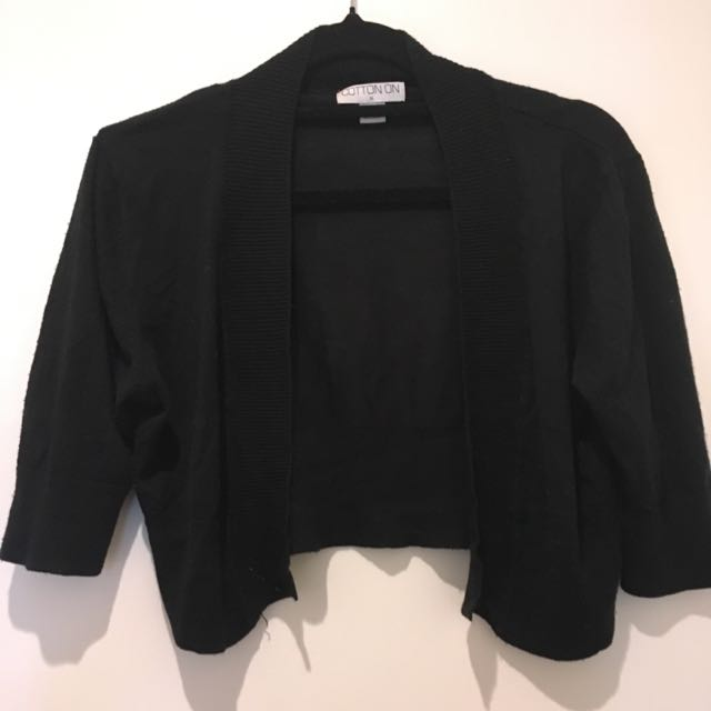 Short Black Cardi