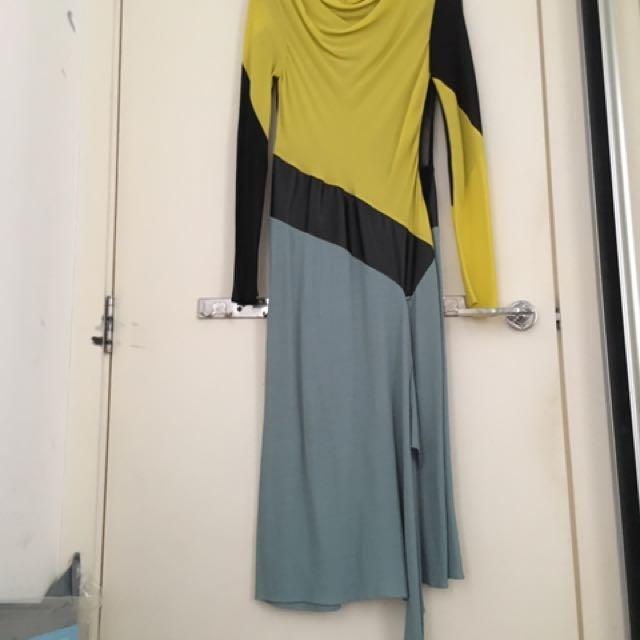 Silk/leather Dress
