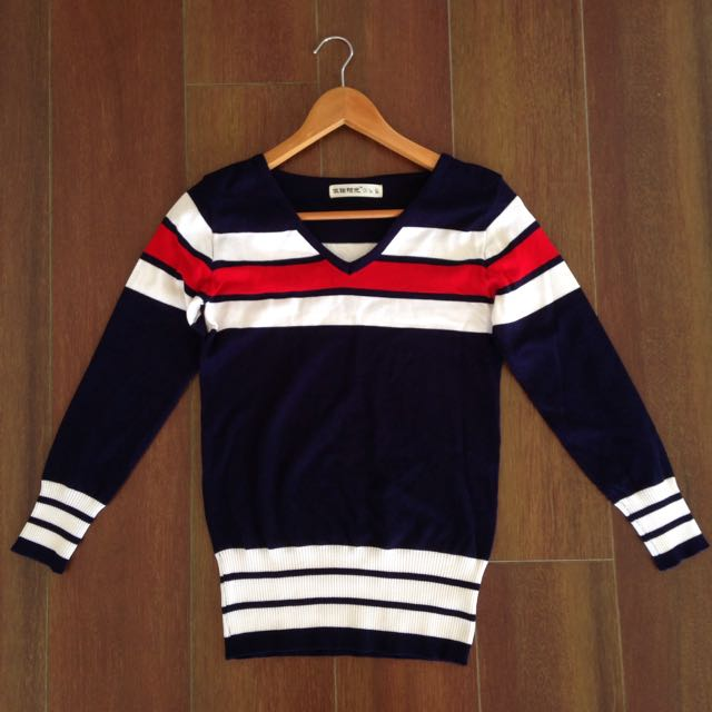 SIZE 8 Red And White Striped Jumper