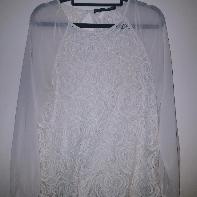 Zara Chiffon and Lace Blouse