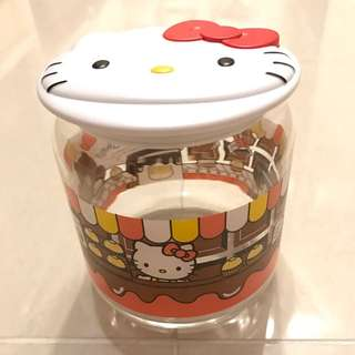NEW全新7-11 LINE Friends x Sanrio Characters Hello Kitty 玻璃瓶