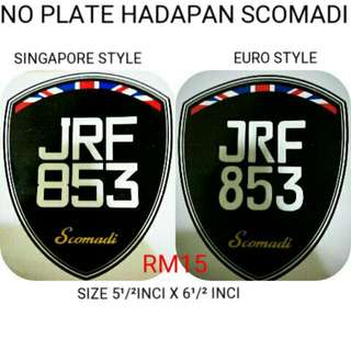 Sticker Plate For Scomadi