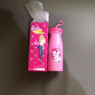 BUNDLE Bnew Barbie 19oz Stainless Steel Water Bottle and School Supplies