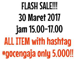 FLASH SALE #gocengaja