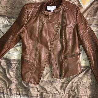 Moto Faux Leather Jacket