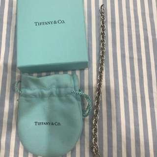 Tiffany Round Link Bracelet + Heart Tag Charm