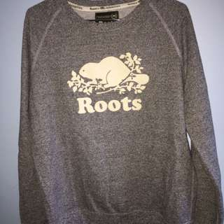 Heather gray Roots sweater