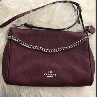 Authentic COACH Leather Side Bag