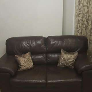 Leather Sofa and Loveseat Set