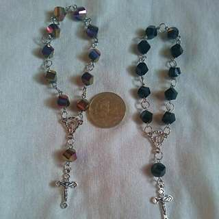 Swarovski And Pearl Rosary Bracelets
