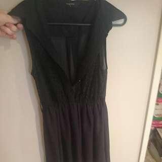 Pagani Lace And Chiffon Dress