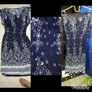 Dress NAVY motif  (FREEONG)