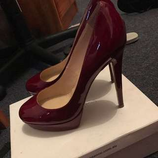Cherry Tony bianco Heels. View Page For More Shoes