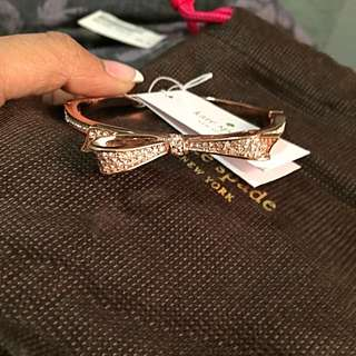 Kate Spade Rose Gold Bangle With Tags