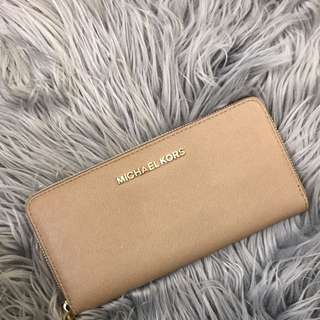 Authentic Michael Kors Tan Brown Wallet