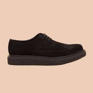 Unif麂皮尖頭鞋
