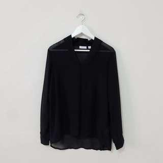 NEW! NY Company Black Blouse