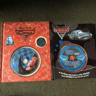 🚗 Cars & Cars 2 CD/Book Sets - Disney Pixar 🎥