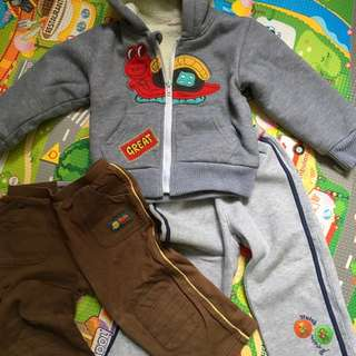 Bob the builder n Disney trousers n Hoody badges warm jacket