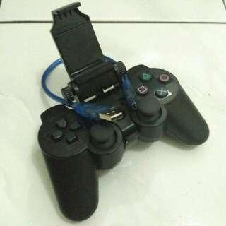 Stick PS3 + Dobe Holder + Kabel Data (Paket Smartphone)