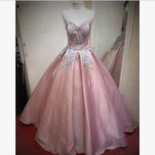 BLUSH PINK BALL GOWN FOR RENT