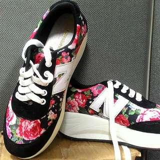 flowery sneakers