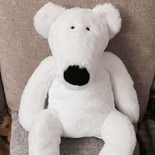 ❄️現貨 超柔軟純白北極熊玩偶 適中尺寸