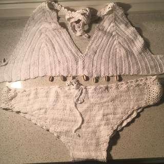 Tree Of Life Crochet Tie Up Bikini Set