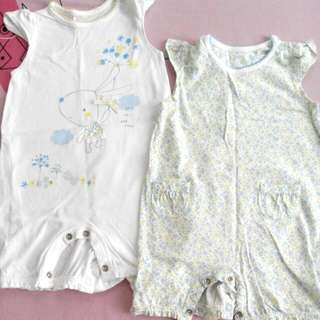 Mothercare Baby Girl rompers 3-6 Months