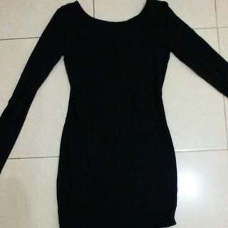 Dress Hitam Sexy Forever 21