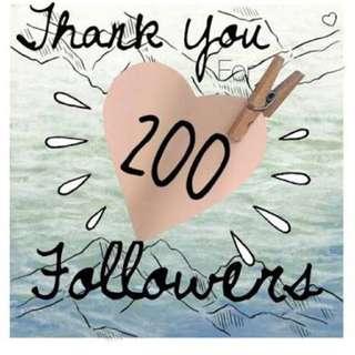 Yeay 200 Followers