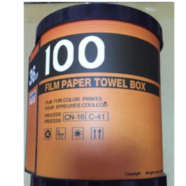 創意底片面紙盒捲筒式135film