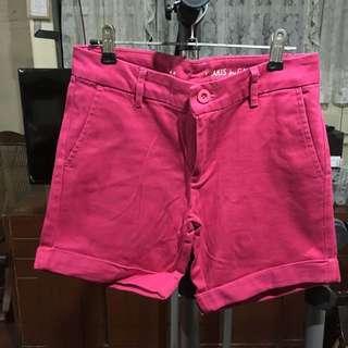 Fuschia Pink Khaki Shorts