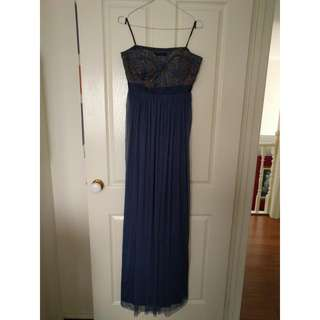 Deep Navy Blue Formal Dress