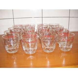 早期玻璃杯子 (16個一起賣)