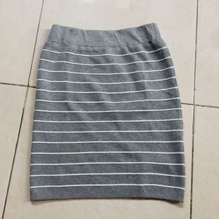 BANGKOK rok span pendek (stripes grey skirt)