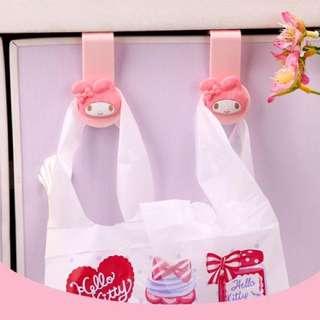 🚚 日本三麗鷗系列垃圾袋掛鉤
