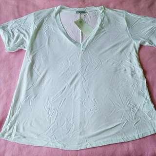 Zara Lyocell Collection White V-neck Shirt