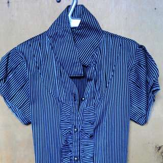 pre used small size color blue stripes
