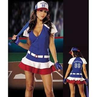 全新角色扮演 萬聖節棒球服裝