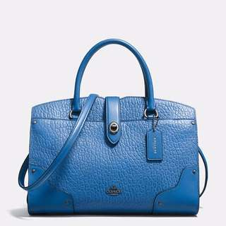 Coach Mercer Satchel 30 in Mixed Lealther (Royal Blue)