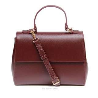 (Price Reduced) The Sophia Label - Kylie Crossbody Bag in Burgundy