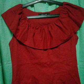 megs shirt red