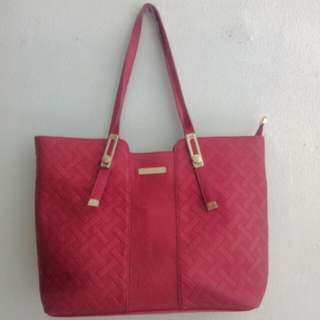 Red Tote & Sling Bag ( Get 2 )