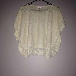 size S TEMT lace top