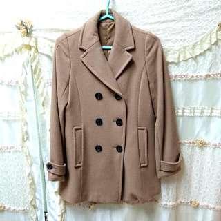 Heather 雙排扣羊毛大衣