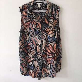 036 H&M Printed Top
